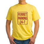 Ferret Parking Yellow T-Shirt