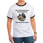 Army Love Bunny Ringer T