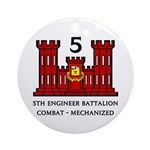 5th Engineer Battalion Ornament (Round)
