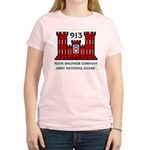 913th Engineer Company Women's Pink T-Shirt
