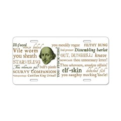 Shakespeare Insults T-shirts & Gifts Aluminum License Plate