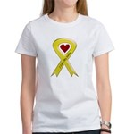 I love my Sailor - Yellow Ribbon Women's T-Shirt