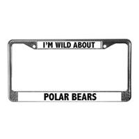 Polar Bear License Plate Frames