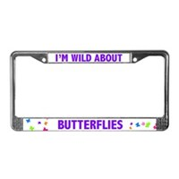 Butterfly License Plate Frames