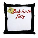 Martini Bachelorette Party Throw Pillow