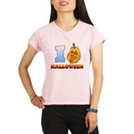 I Love Halloween Women's Double Dry Short Sleeve M