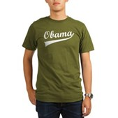 Obama Swish Organic Men's T-Shirt (dark)