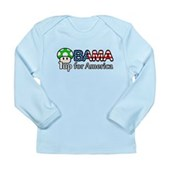 Obama 1up for America Long Sleeve Infant T-Shirt