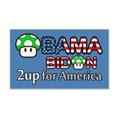 2up for America 22x14 Wall Peel