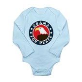 Obama For Peace Long Sleeve Infant Bodysuit