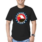 Obama-Biden Eagle Men's Fitted T-Shirt (dark)