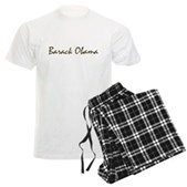 Script Barack Obama Men's Light Pajamas