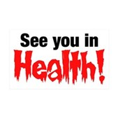 See You In Health! 38.5 x 24.5 Wall Peel