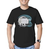 Where's My Quarter? Men's Fitted T-Shirt (dark)