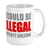 Could Be Illegal Anti-AZ Large Mug