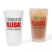 Could Be Illegal Anti-AZ Pint Glass