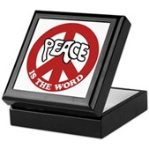 Peace is the word Keepsake Box