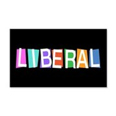Colorful Retro Liberal 22x14 Wall Peel