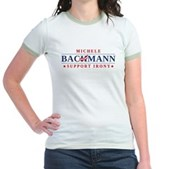 Anti-Bachmann Irony Jr. Ringer T-Shirt