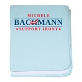 Anti-Bachmann Irony baby blanket