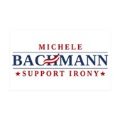 Anti-Bachmann Irony 38.5 x 24.5 Wall Peel