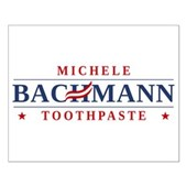 Funny Bachmann Toothpaste Small Poster