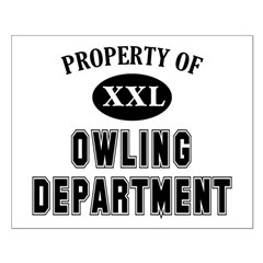 Property of Owling Dept Small Poster