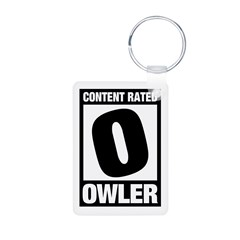 Content Rated Owler Aluminum Photo Keychain