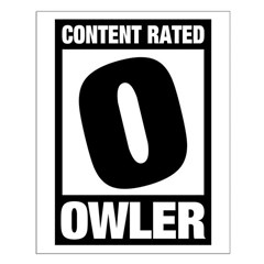 Content Rated Owler Small Poster
