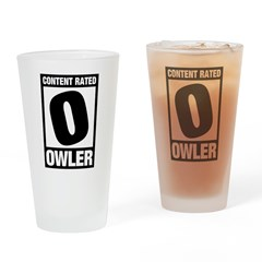 Content Rated Owler Drinking Glass