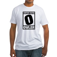 Content Rated Owler Fitted T-Shirt
