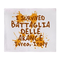 Ivrea Battle Of The Oranges Souvenirs Gifts Tees Stadium Blanket