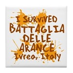 Ivrea Battle Of The Oranges Souvenirs Gifts Tees Tile Coaster