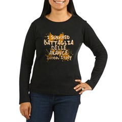 Ivrea Battle Of The Oranges Souvenirs Gifts Tees Women's Long Sleeve Dark T-Shirt