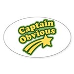 Captain Obvious Oval Sticker