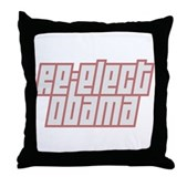 Re-Elect Obama Throw Pillow