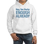 Hey, Tea Party Hooded Sweatshirt