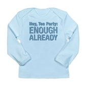 Hey, Tea Party Long Sleeve Infant T-Shirt
