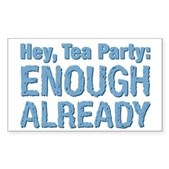 Hey, Tea Party Sticker (Rectangle)