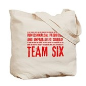Team Six Quote Tote Bag