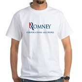 Anti-Romney Corporations White T-Shirt