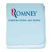 Anti-Romney Corporations baby blanket