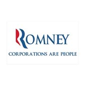 Anti-Romney Corporations 38.5 x 24.5 Wall Peel