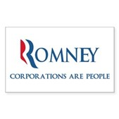 Anti-Romney Corporations Sticker (Rectangle)