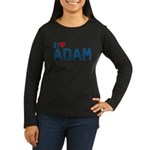 I Heart Adam Women's Long Sleeve Dark T-Shirt