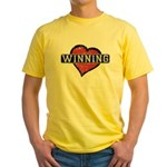 Winning - Heart Yellow T-Shirt