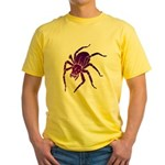 Purple Spider Yellow T-Shirt