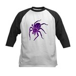 Purple Spider Kids Baseball Jersey