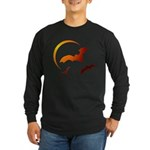 Flying Vampire Bats Long Sleeve Dark T-Shirt