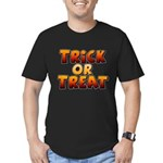 Trick or Treat Men's Fitted T-Shirt (dark)